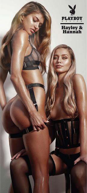 Hayley y Hannah en Playboy México Mayo 2019 31