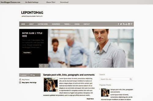 LepontoMag Bussness Blogger template 2014,bussness template,free download,responsive template,white template,2 column,right sidebar