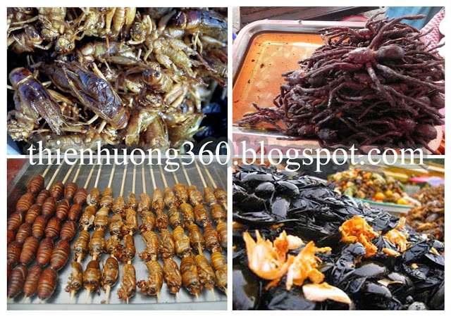 Một trong những đặc sản của Campuchia là Món ăn Côn trùng