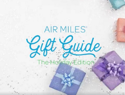 Air Miles Gift Guide The Holiday Edition Contest
