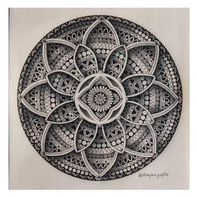 01-Flower-petals-design-Chayan-Gupta-3D-Mandala-Drawings-www-designstack-co