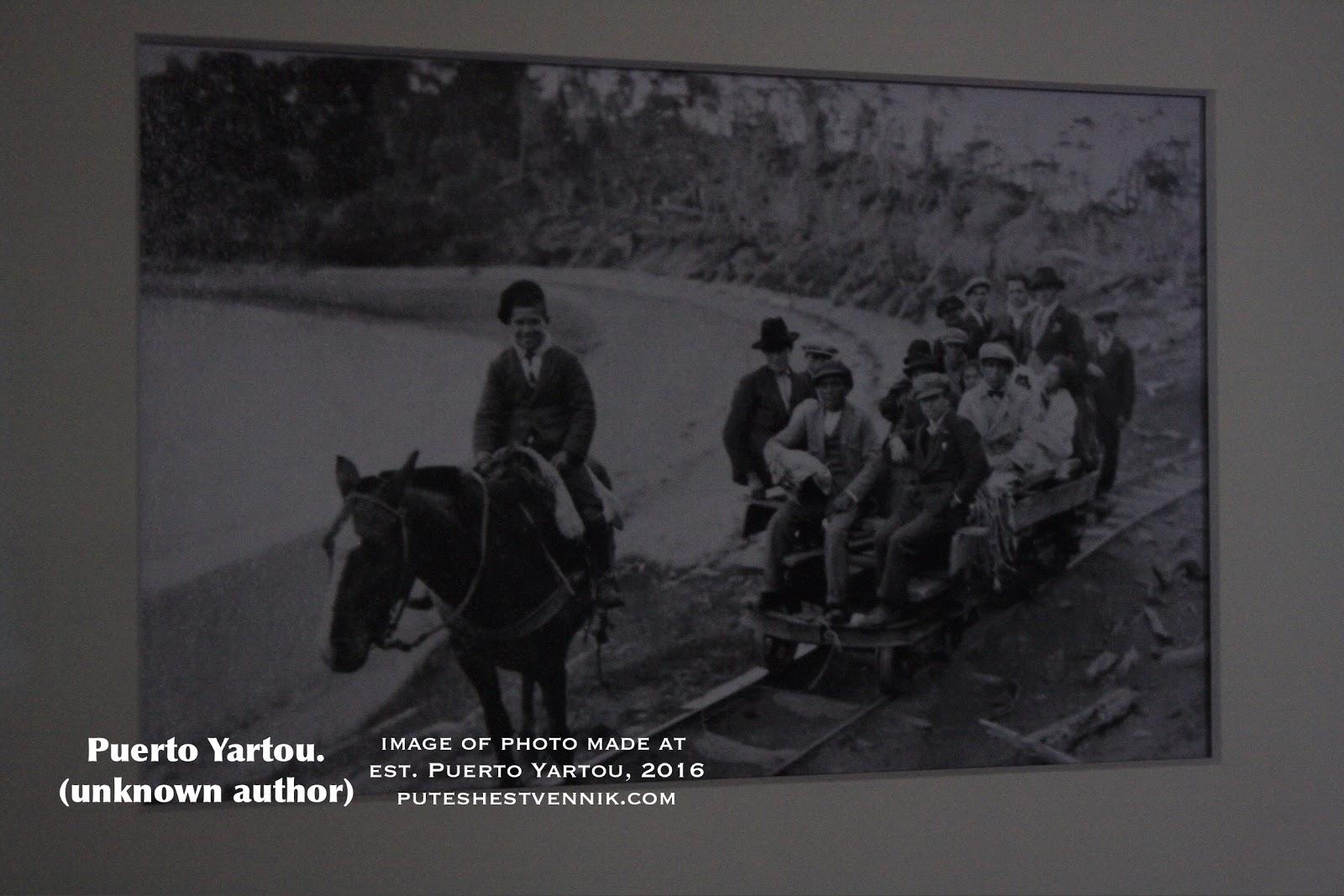 Чилийцы едут по рельсам на лошадиной тяге