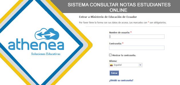 Consultar Notas Calificaciones Estudiantes Ministerio de Educación EDUCAR ECUADOR educarecuador.gob.ec usuario notas