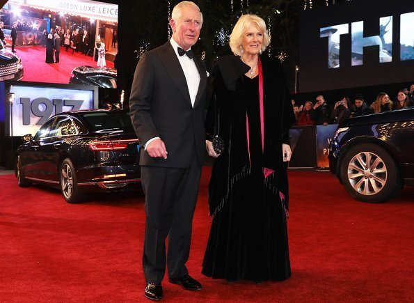 The Duke and Duchess of Cornwall attended the World Premiere of the film 1917 at Leicester Square in London