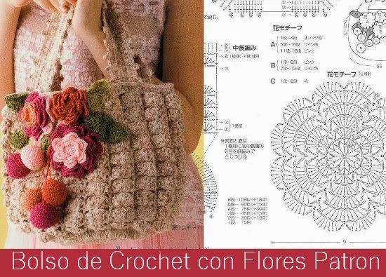 Bolso de Crochet con Flores Patron