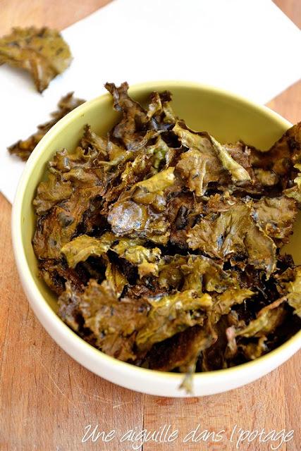 Chips de chou kale (vegan)
