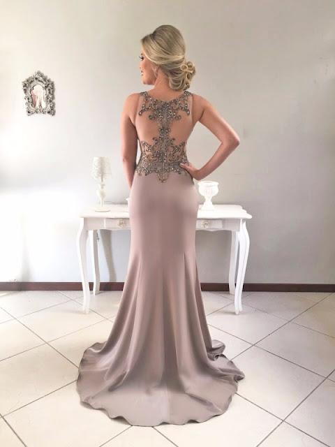 vestido de festa neutro