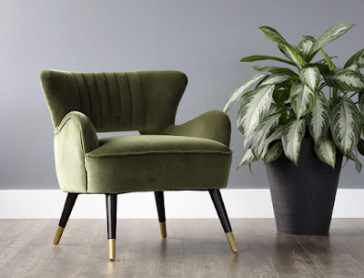 Sunpan Modern 102601 Hanna Club Chair Olive