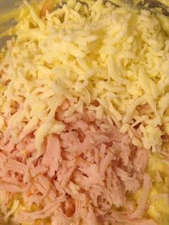 Bolitas de jamón y mozzarella, preparación 2