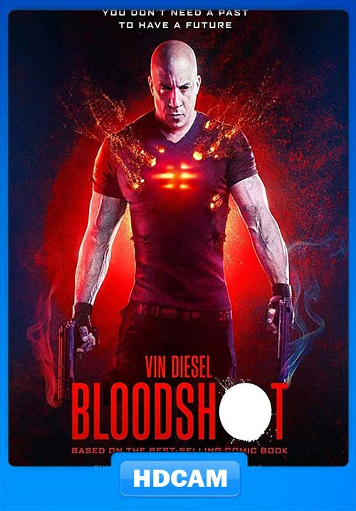 Bloodshot 2020 Hindi 720p HDCAMRip x264 | 480p 300MB | 100MB HEVC