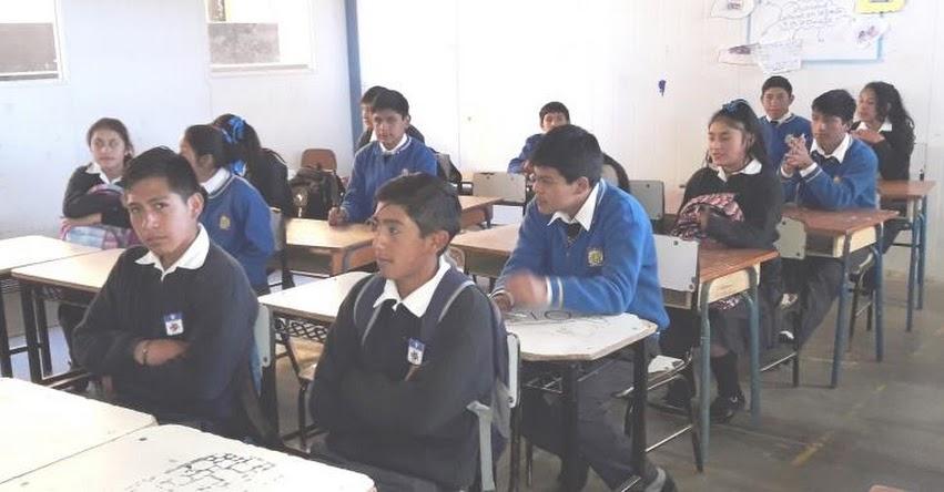 Más de 40 estudiantes de Santiago de Chuco rindieron evaluación para el COAR 2019