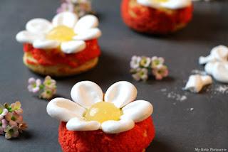Choux crème onctueuse orange basilic gelée pomélo