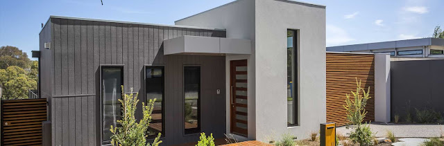 Creative solution for building a custom home on sloping block