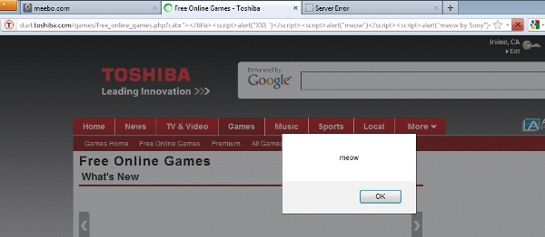 Vuln Pertamina Official Site: Toshiba & Compaq Official Site Vulnerable To XSS (Cross