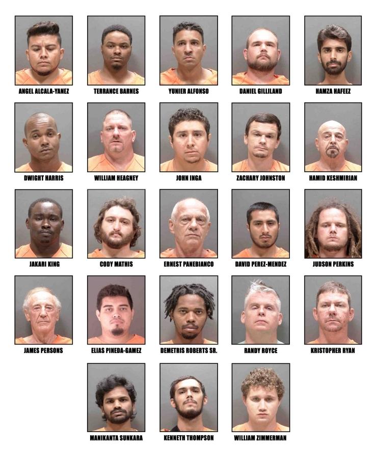 Arrestan a 23 depredadores sexuales en Florida