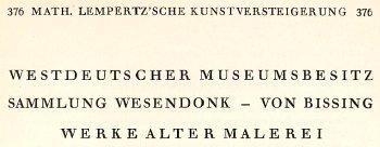 376 Math. Lempertz'sche Kunstversteigerung 1935
