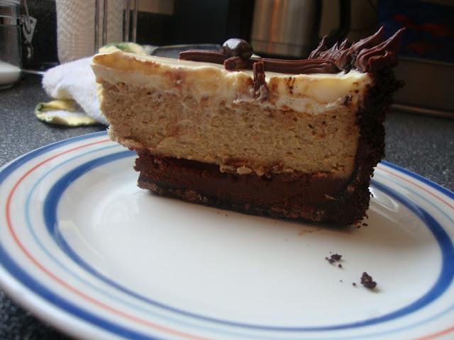 Slice Of Cappuccino Fudge Cheesecake