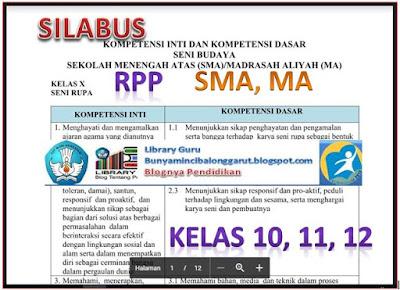 Download Silabus dan RPP SMA, MA Kelas X (10), XI (11), XII (12) Kurikulum 2013 Sesuai Kemedikbud, Library Pendidikan
