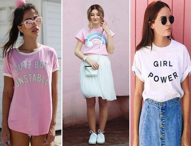 tendencias de moda primavera verão 2018 - t-shirt