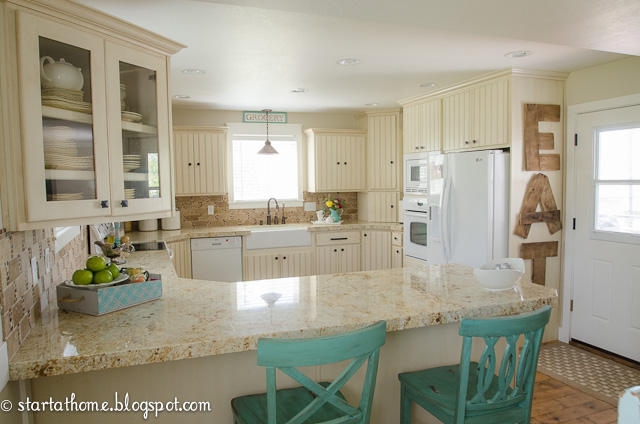 Start At Home Adding Color To The Kitchen
