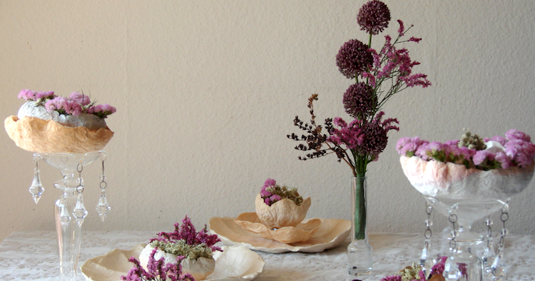 Matrimonio Tema Ecologico : Eco wedding design fiori di carta e secchi per un