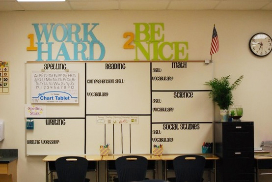 Classroom Whiteboard Decoration Ideas