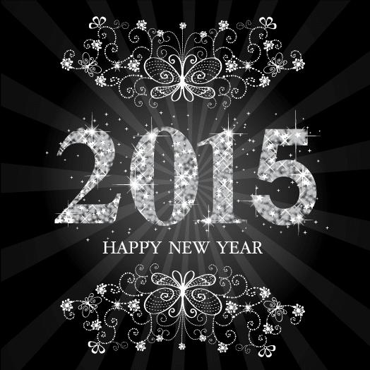 Fondo 2015 con estrellas - vector