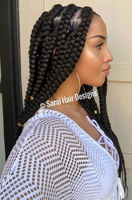 27 Stunning Box Braids Ponytails Hairstyles To Try Copy Week