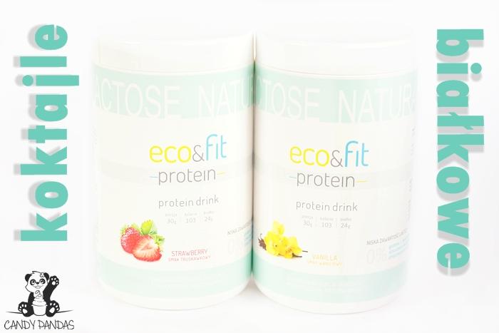 Koktajl białkowy wanilia i truskawka – Eco&Fit