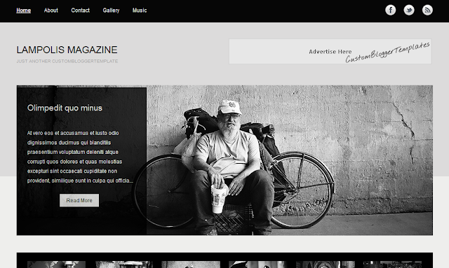 Vintage MAGAZINE Blogger Template