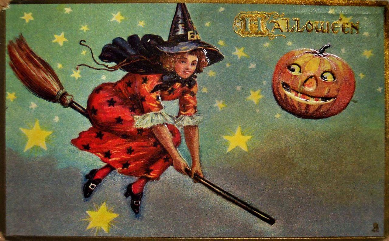 Vintage Halloween Witch Postcards C 1900 S Vintage
