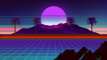 Retrowave, Synthwave, Scenery, Mountain, Palm, Trees, 4K, #4.3051