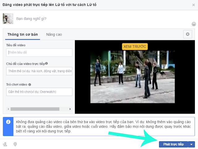 Làm thế nào để phát video trực tiếp lên facebook