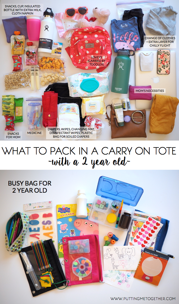 Packing Tips My Carry On With A Toddler Putting Me