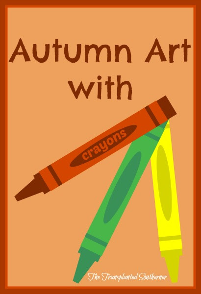 Autumn Art with Crayons