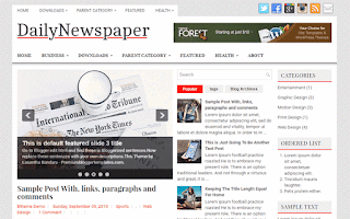 daily newspaper blogger template free