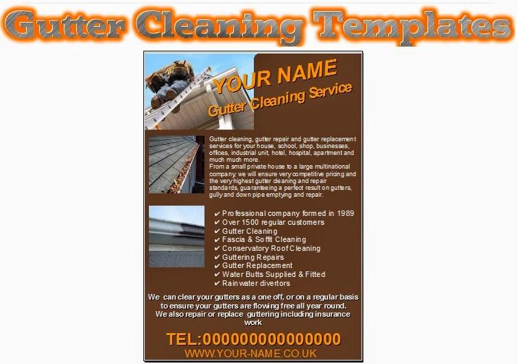 Gutter Cleaning leaflets,flyer,business cards Business Start