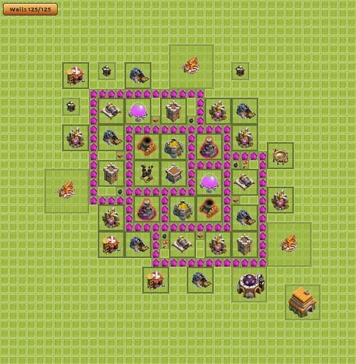 Clash of Clans Town Hall 6 Farming Type 2