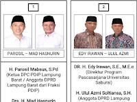 Nomor Urut Pasangan Calon Pilkada Lampung Barat 2017