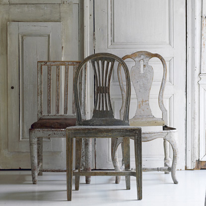 The Drill Hall Emporium: gustavian chairs...mismatched beauty