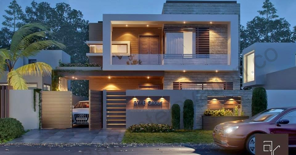 D Front Elevation Of House : D front elevation marla modern contemporary