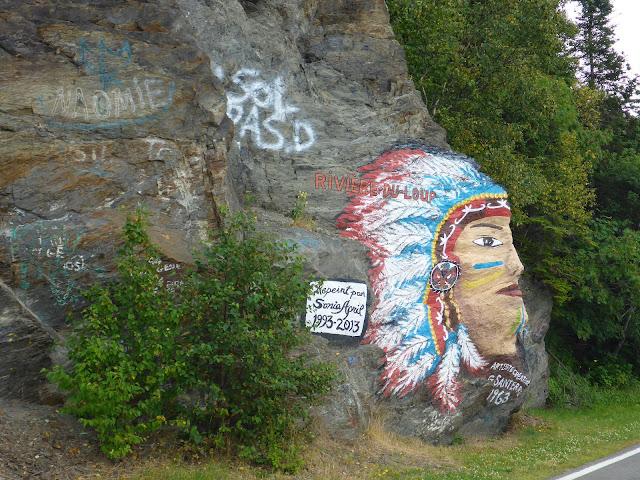 tête d'indien au parc de la Pointe à Rivière du Loup Québec