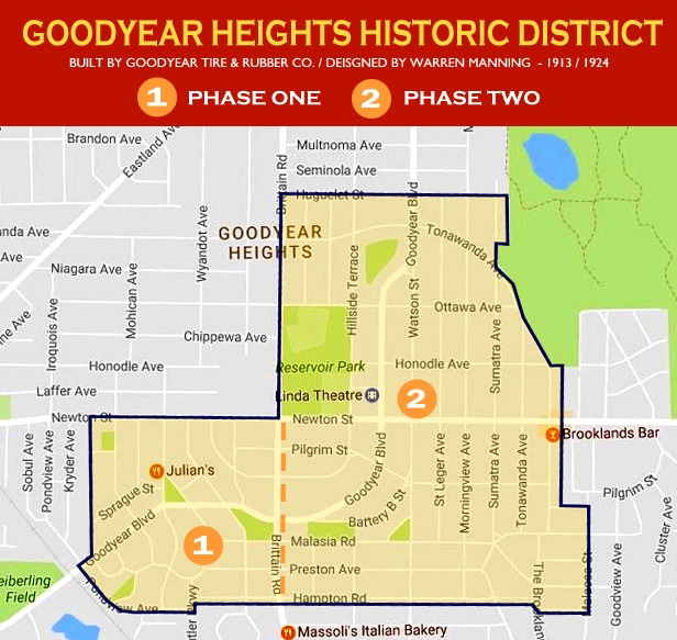 MAPS AND INFORMATION ~ Historic Goodyear Heights Show Me The Map Of Stan on map of the only, map of the selection, map of the home, map of the everything, map of the empire, map of the overture, map of the holy grail, map of the roar,