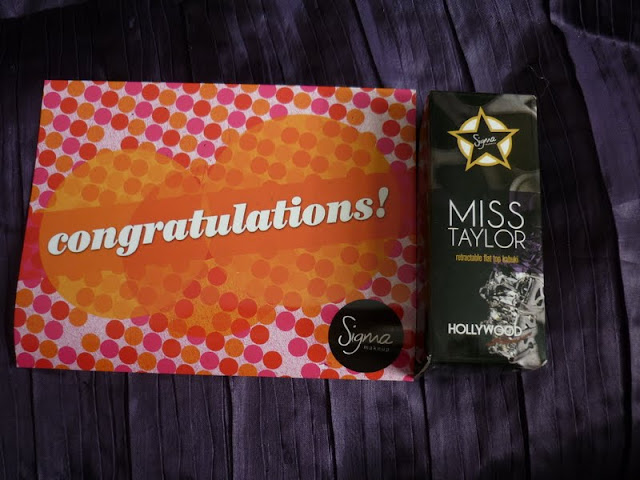 competition prize from Sigma Miss Taylor brush