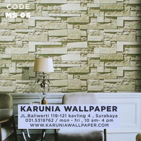 wallpaper batu bata rol besar