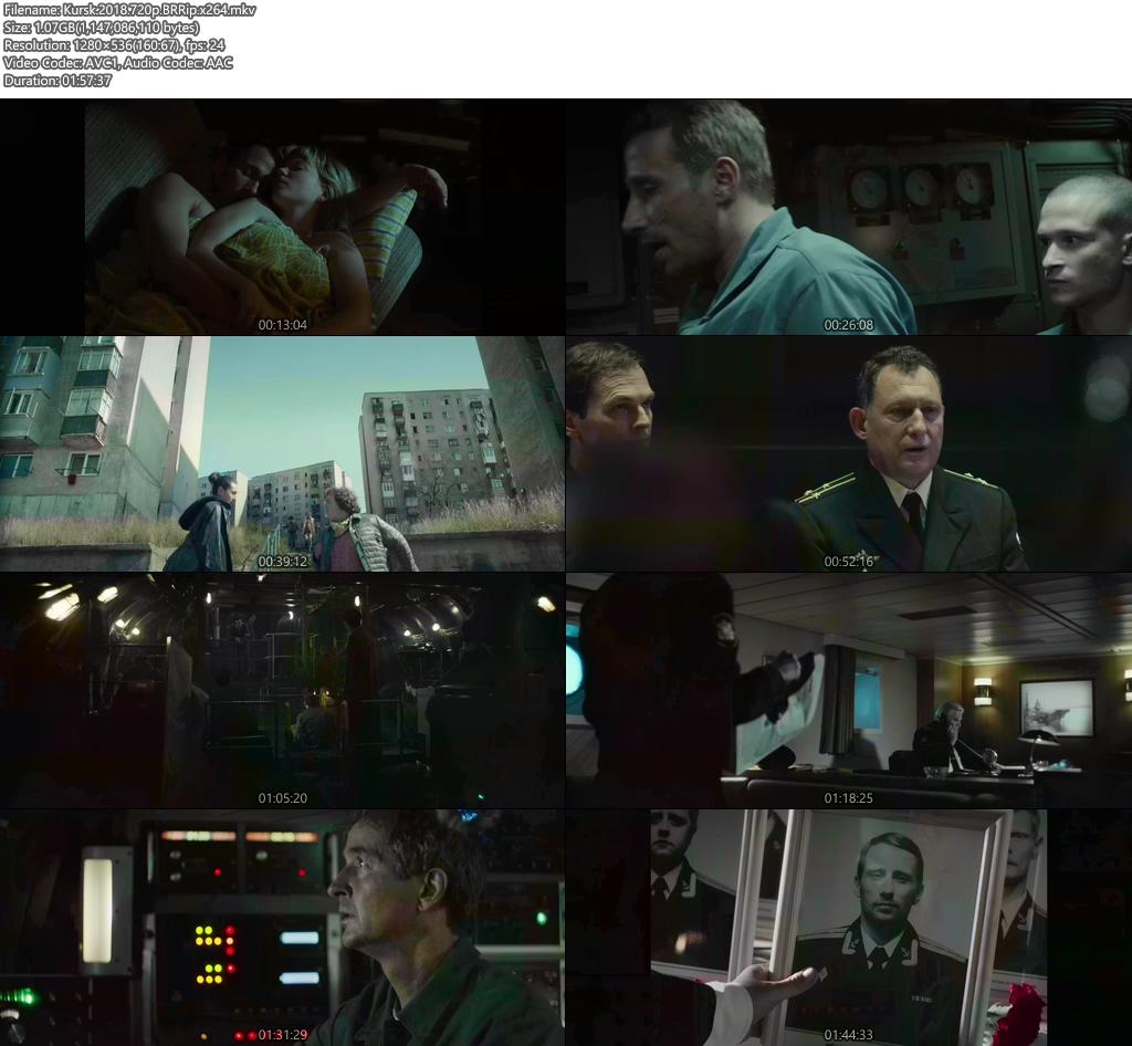 Kursk 2018 720p BRRip x264 | 480p 300MB | 100MB HEVC Screenshot