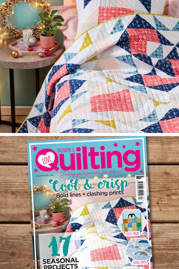 Double Windmill Quilt featured in Love Patchwork and Quilting Magazine Issue 67 by Shannon Fraser Designs