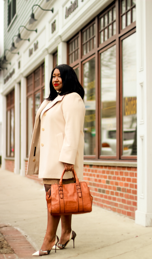 Plus Size Neutral Coat