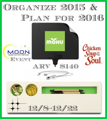Enter the Organize 2015 + Plan for 2016 Giveaway. Ends 12/22
