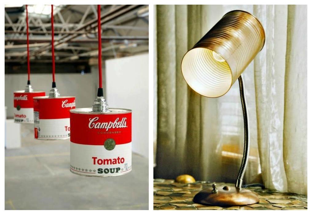 Manualidades con latas de conserva recicladas construccion y manualidades hazlo tu mismo - Ideas para lamparas ...